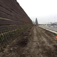 Geluidswal (Back2Back wall) langs A4 ter hoogte van Leiderdorp